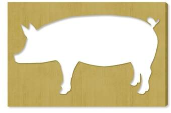 Pig Canvas Wall Art