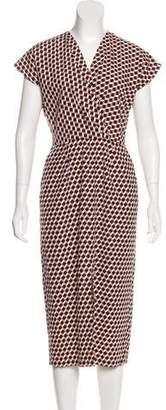 Apiece Apart Geometric Print Midi Dress