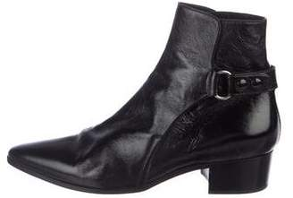 Saint Laurent French 45 Patent-Leather Ankle Boots