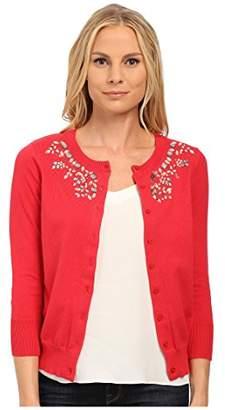 U.S. Polo Assn. Women's Jewel Necklace Cardigan