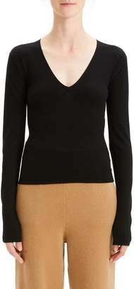 Theory Low V-Neck Sweater
