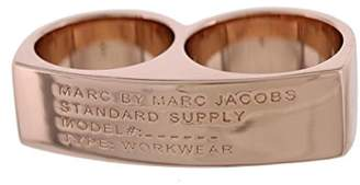 Marc by Marc Jacobs Womens Double Logo Right-Hand Ring 8
