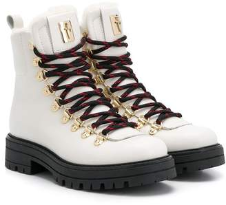 Cesare Paciotti Kids sherpa lined hiking boots