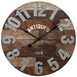 August Grove 35.25 Antiques Oversized Wall Clock