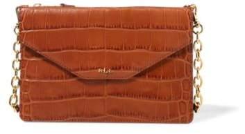 Ralph Lauren Embossed Erika Crossbody Bag Bourbon One Size