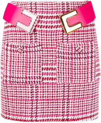 Elisabetta Franchi houndstooth knitted mini skirt