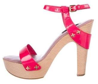Louis Vuitton Patent Leather Platform Sandals