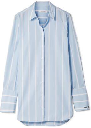 Equipment Arlette Striped Cotton-poplin Shirt - Sky blue