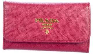 Prada Saffiano Leather Key Holder