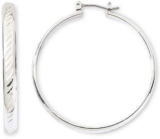 JCPenney MONET JEWELRY Monet Silver-Tone Large Hoop Earrings