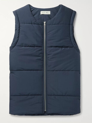 Alex Mill Quilted Waterproof Shell Gilet - Men - Blue