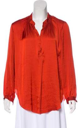 Raquel Allegra Long Sleeve V-Neck Top