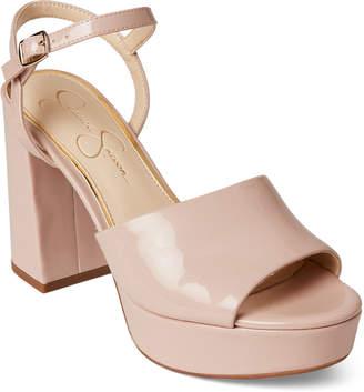 Jessica Simpson Nude Blush Kerrick Patent Platform Sandals