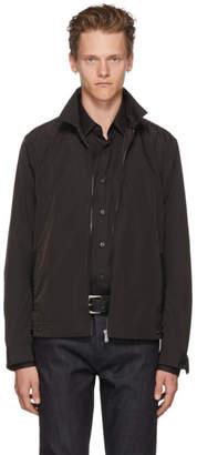Bottega Veneta Black Intrecciato Trim Jacket