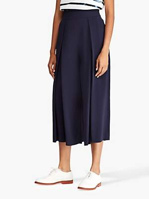 17fbe0a962 Ralph Lauren Polo Pleated Wide Leg Trousers, Royal Navy
