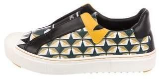 Fendi Bug Eyes Slip-On Sneakers