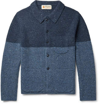 Mollusk Cheever Colour-Block Donegal Merino Wool-Blend Cardigan
