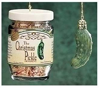 Roman 2-Piece Exclusive Christmas Pickle and Decorated Glass Jar Hanging Ornament