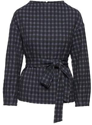 Banana Republic JAPAN ONLINE EXCLUSIVE Gingham Drama Sleeve Top