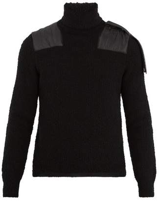 Moncler - X Craig Green Roll Neck Wool Blend Sweater - Mens - Black