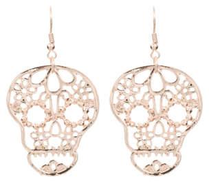 George Halloween Diamante Skull Tassel Earrings
