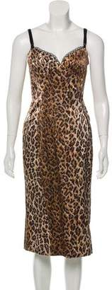 Dolce & Gabbana Sleeveless Printed Midi Dress w/ Tags