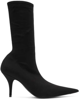 Balenciaga Black Stretch Crepe Boots