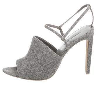 Alexander Wang Wool Ankle Strap Pumps