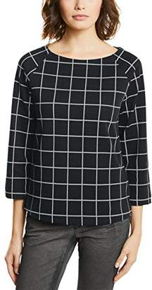 329506a9 Street One Women's Raglan Shirt with Check Dessin T,(Size: ...