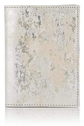 Barneys New York Men's Brushstroked Metallic Leather Passport Case - Silver
