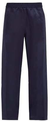 Hope Break Silk Satin Trousers - Mens - Dark Blue