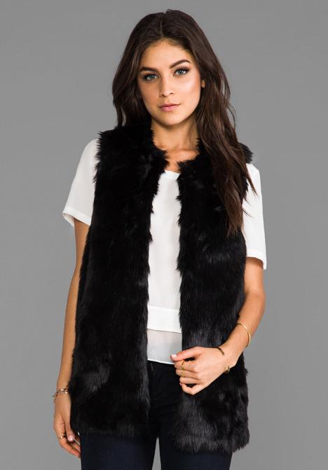 Juicy Couture Bear Faux Fur Vest