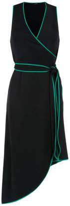 Tufi Duek midi dress with lace up detail
