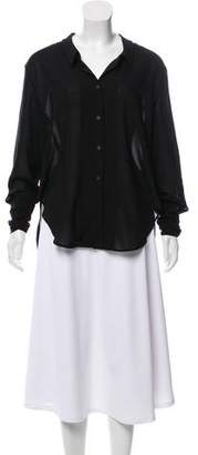 Theyskens' Theory High-Low Button-Up Top