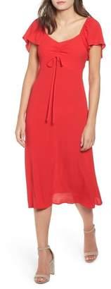 Leith Cinch Front Midi Dress