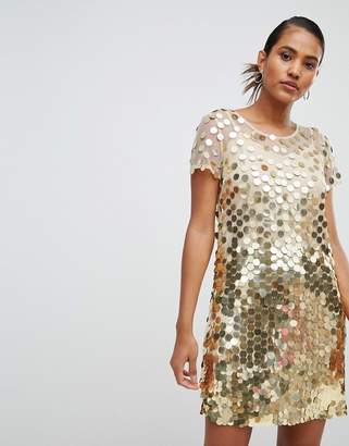 French Connection Disc Sequin Mini Dress