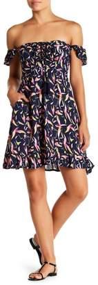 Tiare Hawaii Oasis Off-the-Shoulder Tassel Dress