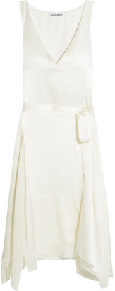 Elizabeth and James - Willow Silk-satin Dress - Ivory $545 thestylecure.com