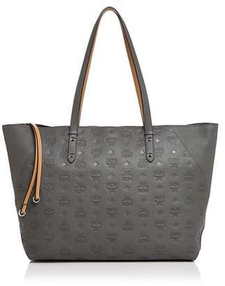 MCM Klara Monogrammed Leather Shopper Tote