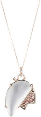 Alexis Bittar Abstract Tulip Glitter Pendant Necklace