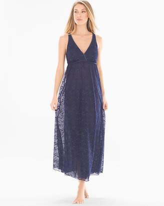 Long Lace Nightgown Navy