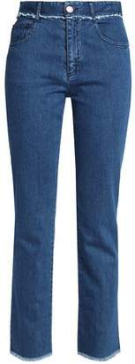 See by Chloe Frayed High-Rise Straight-Leg Jeans