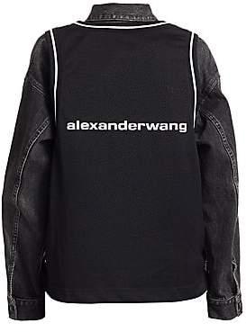 Alexander Wang Women's Jersey Game Denim Jacket