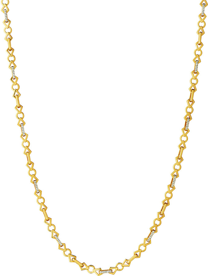 Links Of LondonLINKS OF LONDON Timeless Gold 18ct yellow-gold and diamond necklace