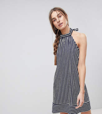 Asos Tall TALL Halter Swing Sundress in Cut About Stripe