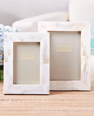 Twos Company Pearly White Set of 2 Photo Frames in Gift Box Includes 2 Sizes