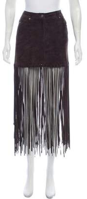 Michael Kors Leather Fringe Skirt