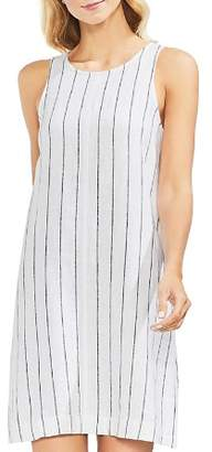 Vince Camuto Pinstriped Sleeveless Shift Dress