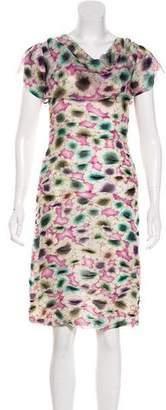 Missoni Silk Ruched Floral Print Dress