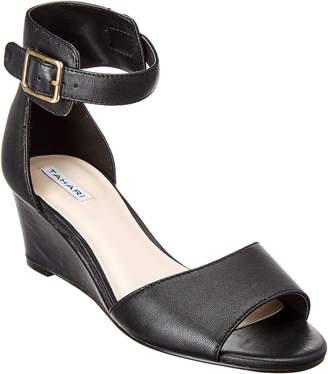 Tahari Polly Leather Wedge Sandal